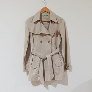 United Colors of Benetton Trench Coat Size 40